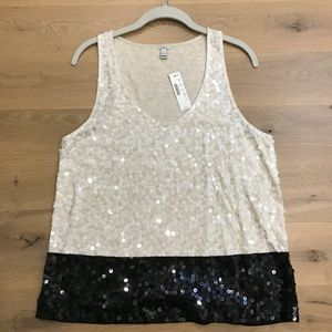 NWT J. Crew Sequined Tank